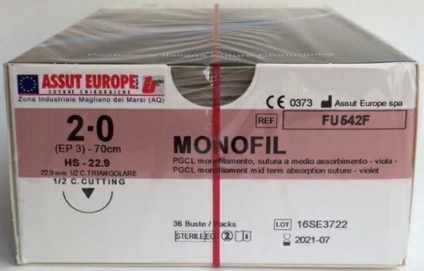 MonoFil Fast 3/0 18,7 3/8 TRI. FV526Q - 36 pz 1