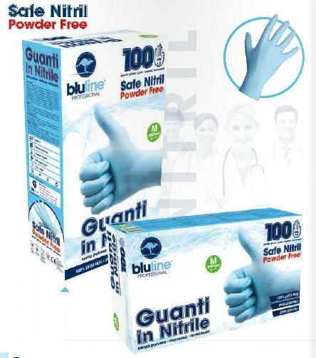 Guanti Bluline in Nitrile senza polvere - 100pz Taglia M 1