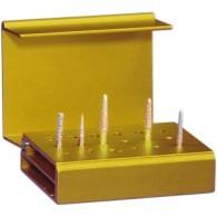 Portafrese aluminium Bur Block - Gold 1