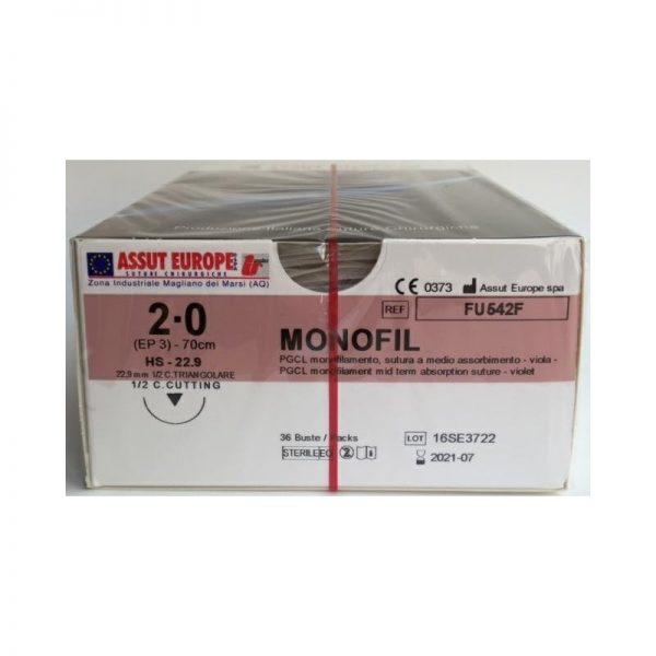 MonoFil Fast 3/0 18,7 3/8 TRI. FV526Q - 36 pz 2