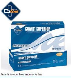 Guanti Powder Free Superior G line 10x100pz  L 1