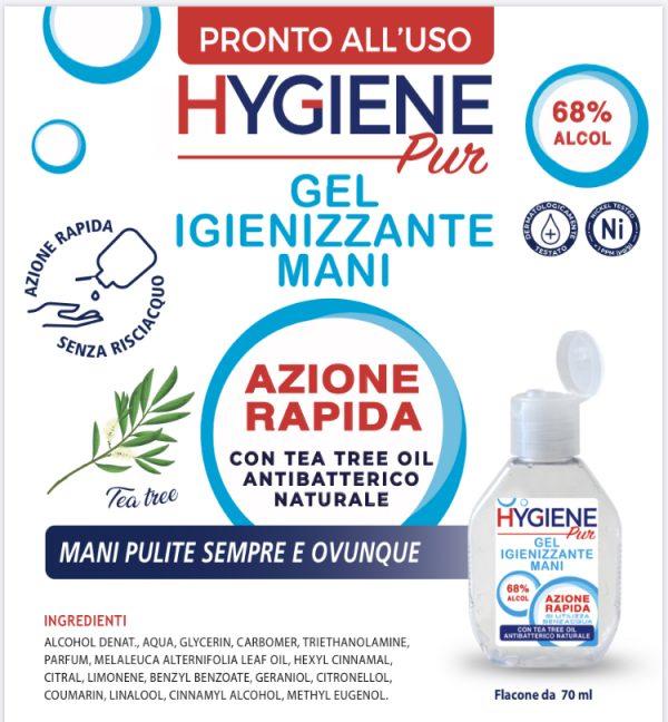 GEL Igienizzante Mani, ALCOL 68% - HYGIENE PUR 1