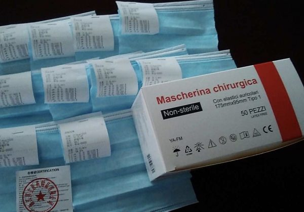 Mascherine chirurgiche azzurre 1